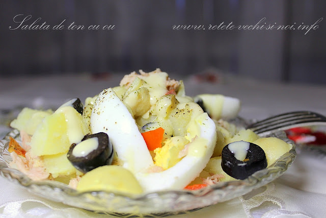 Salata de ton cu ou si ciuperci