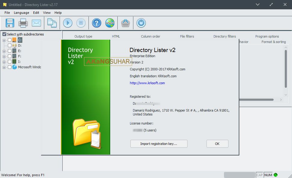 Download Directory Lister Pro 2.22.0.321 Enterprise Full Version
