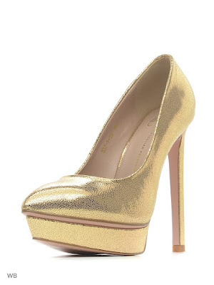 Tacones Dorados para Mujer