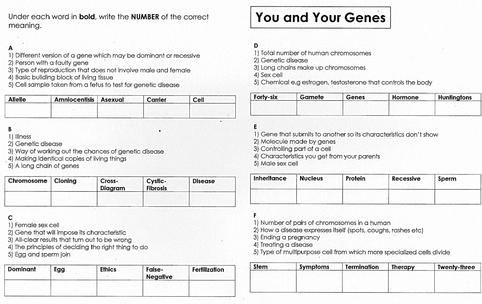100 Free Science Worksheets Multi Choice Quiz