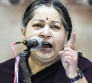 Jayalalitha in anger
