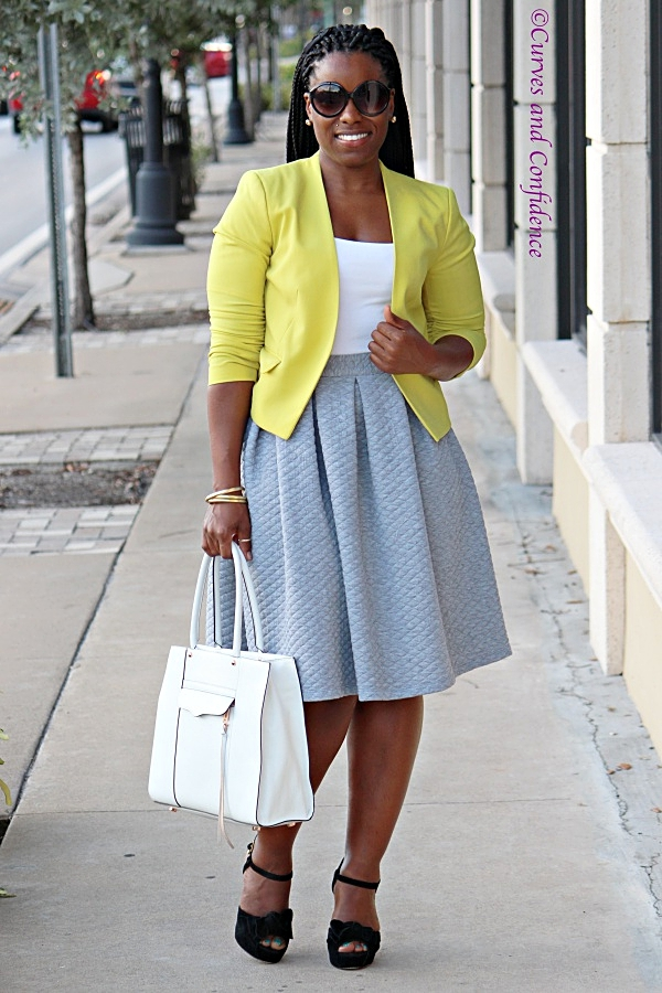 Work Wear Staple: The Midi Skirt - Curves and Confidence