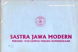 SASTRA JAWA MODERN PERIODE 1920--PERANG KEMERDEKAAN