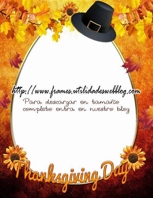 Hermoso marco digital para fotos de Thanksgiving