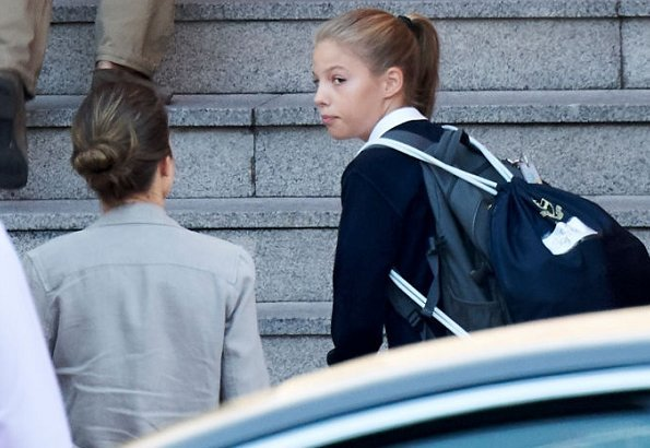 Crown Princess Leonor and her sister, Infanta Sofia, started back at school