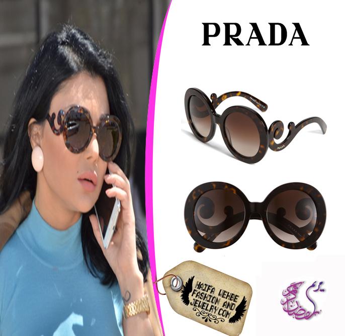 cb08d7f1f0c9 Haifa wehbe fashion and jewelry  Haifa Wehbe Wearing Prada Minimal ...