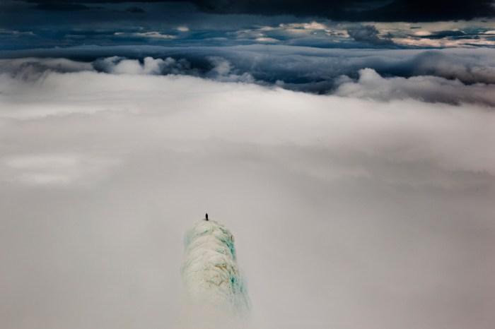 Acima das nuvens. Islândia