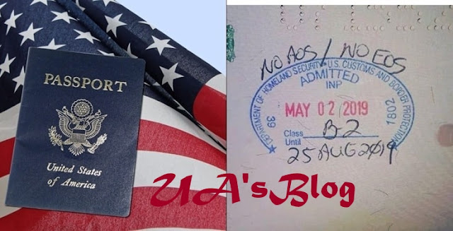 Reactions As U.S Stamps Nigerian Passport With 'No AOS/EOS' Tag