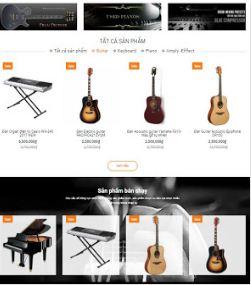 Blogger theme shop blogspot template bán guitaz