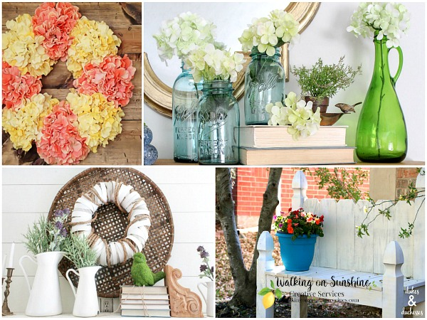 Gorgeous Spring Ideas for your home are featured this week with our Foodie Friends Friday party on Walking on Sunshine.