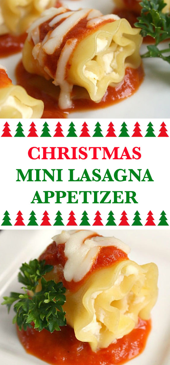 Christmas Mini Lasagna Appetizer
