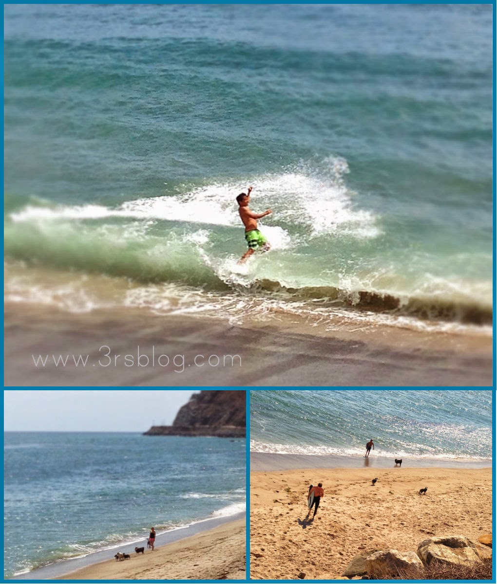 Beach collage July 2014 on The 3Rs Blog