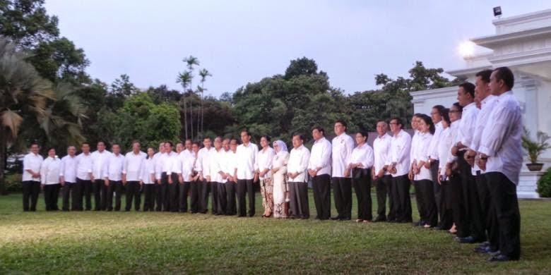 Daftar Nama Menteri Kabinet Kerja Jokowi
