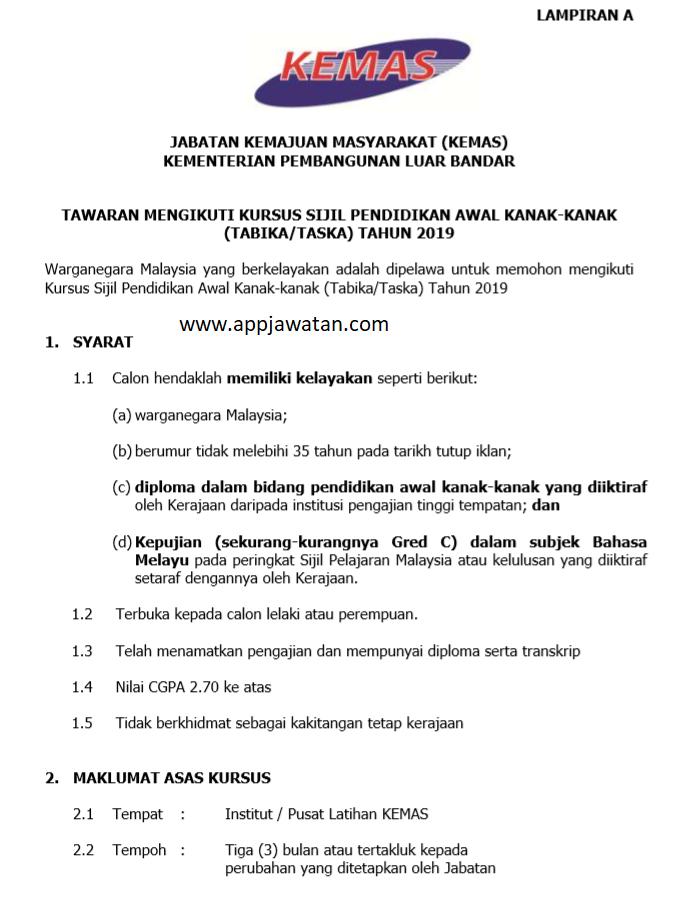 Permohonan Online Jawatan Di Jabatan Kemajuan Masyarakat Kemas Terbuka Lelaki Wanita Jawatan Kosong Kerajaan Swasta Terkini Malaysia 2020 2021