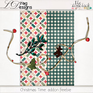 Creative Team for LDrag Designs -   Christmas Time: The Collection by LDrag Designs and Coordinating Freebie