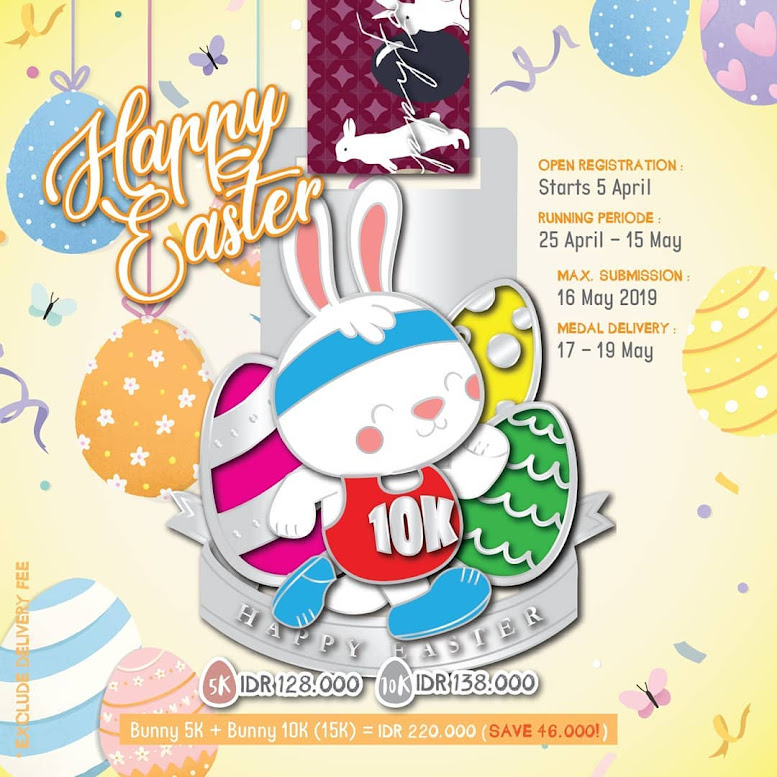 10K Iconic Virtual Run Batch 13 - Happy Easter Series 2019