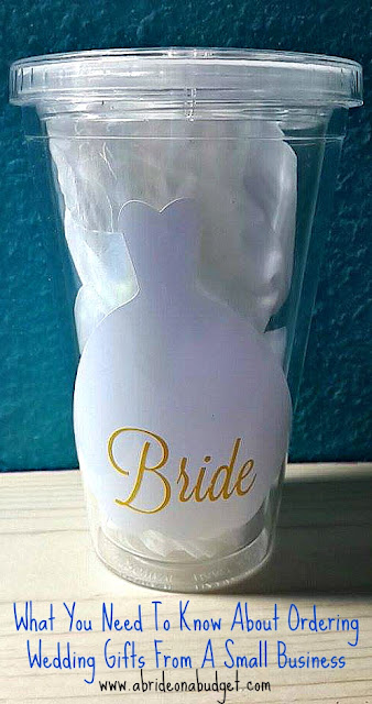 You can shop local and support small businesses when you're wedding planning. Just be sure to use this advice about what you need to know about ordering wedding gifts from a small business at www.abrideonabudget.com.