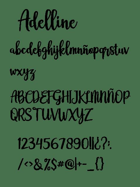descargar, fuente, tipografia, adelline, gratis