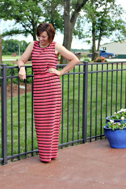 Butterick 6330 Maxi dress in Style Maker Fabrics' jersey knit