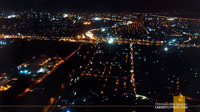 Cebu Evening From Plane