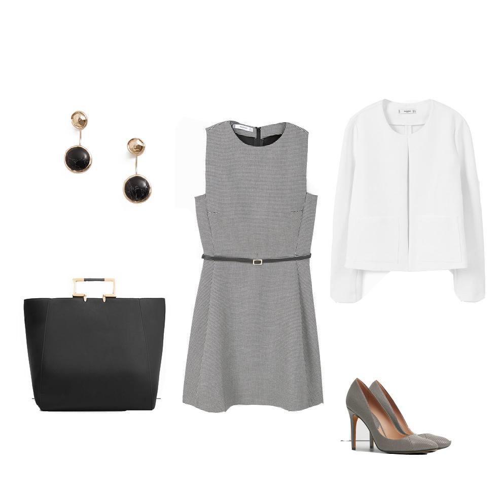 ropa, oficina, looks, working girl