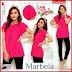 FHGS9116 Model Blouse Marbella Pakaian, Twiscone Perempuan Atasan Pink BMG