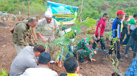 Didukung Kodim 1608 dan Polres Kabupaten Bima, Pemkab Tanam 11 Ribu Pohon di Kawasan Pela Parado