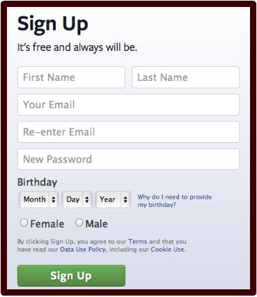 Make A Facebook Account