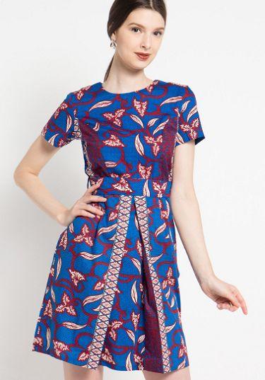 35 Model Dress Batik Modern Masa Kini 2020 Terbaru