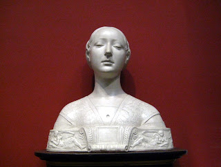 A copy of a 1472 bust by Francesco Laurana thought to be of Ippolita Maria Sforza