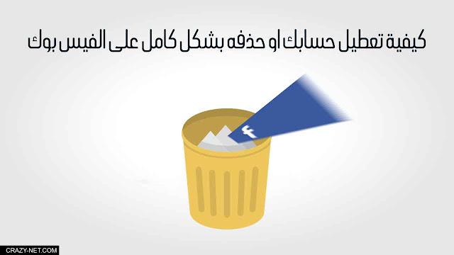 كيفية تعطيل حسابك او حذفه بشكل كامل على الفيس بوك