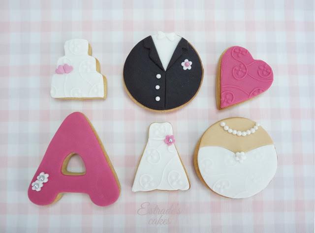 galletas con fondant para boda - 1