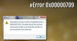 Cara atasi error 0x00000709