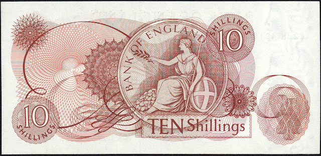 Great Britain 10 Shilling Note 1966