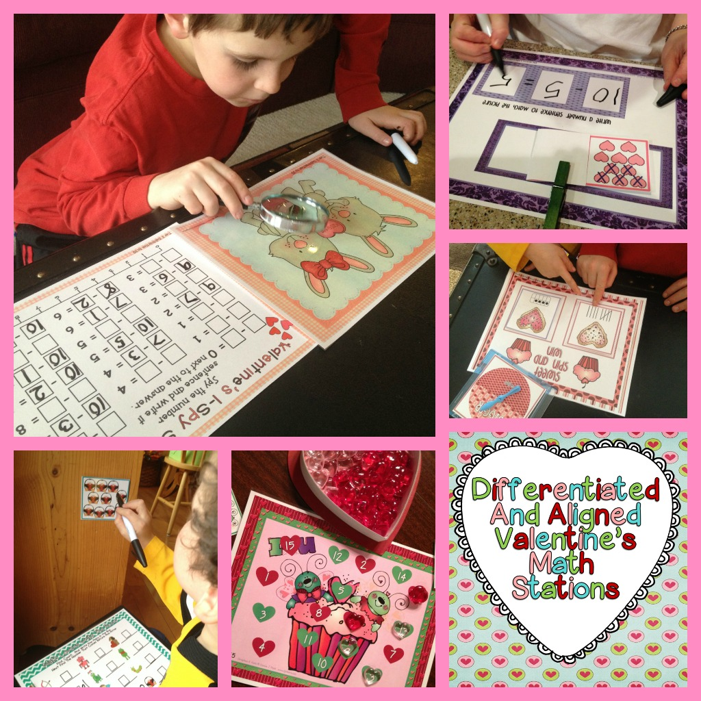 Love To Plan Differentiated And Aligned Valentine S Math Stations