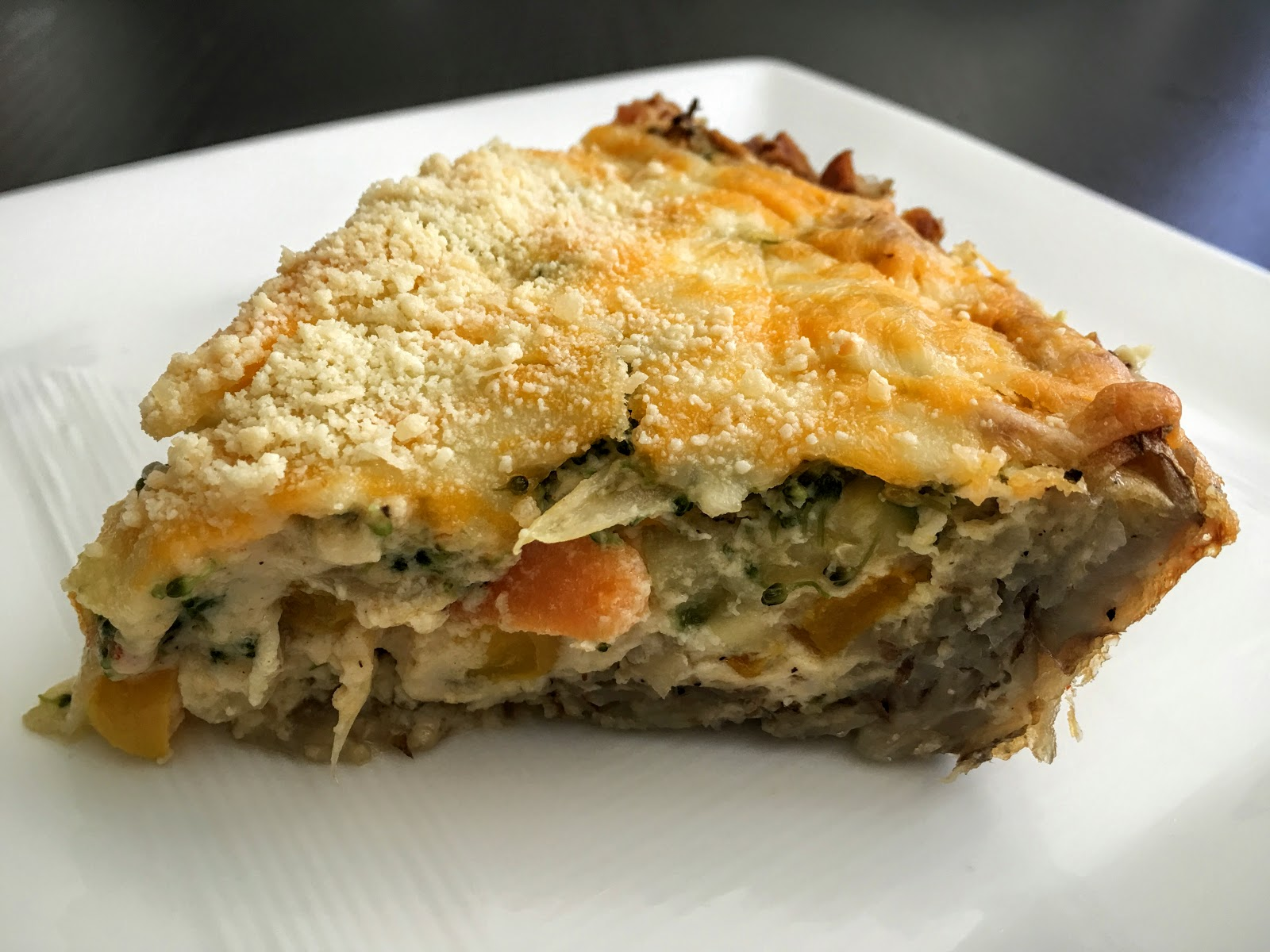 Fueling with Flavour: Vegetable Quiche with Potato Crust