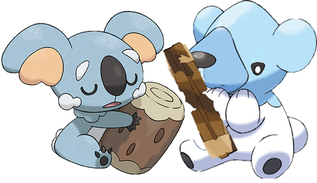 Komala Cubchoo Pokémon Sun Moon panda bear log