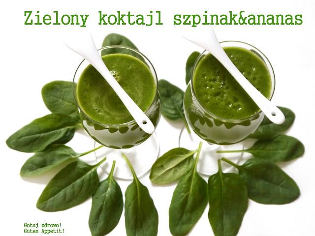 Zielony koktajl odchudzający szpinak & ananas - Czytaj więcej »