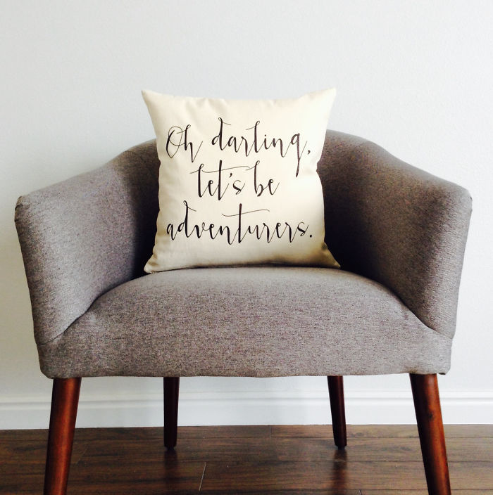 15+ Of The Best Traveler Gift Ideas Besides Actual Plane Tickets - Adventurer Quote Pillow Case
