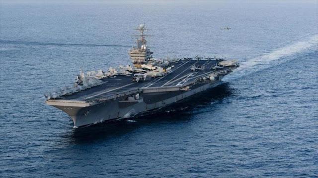 EEUU envía portaviones a Atlántico en medio de tensión con Venezuela