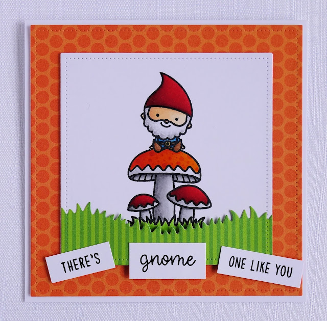 Cute handmade gnome pun card (using Home sweet gnome by Sunny Studio)