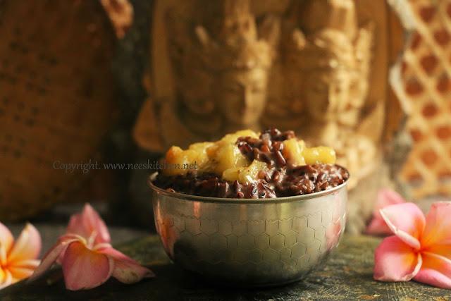 Black Rice Banana Pudding