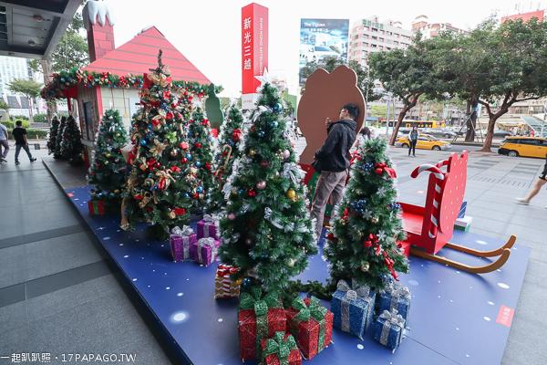 2018台中聖誕節活動,新光三越台中中港店,耶誕夢想禮物基地