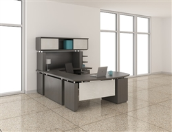 Gray Office Desk Layout