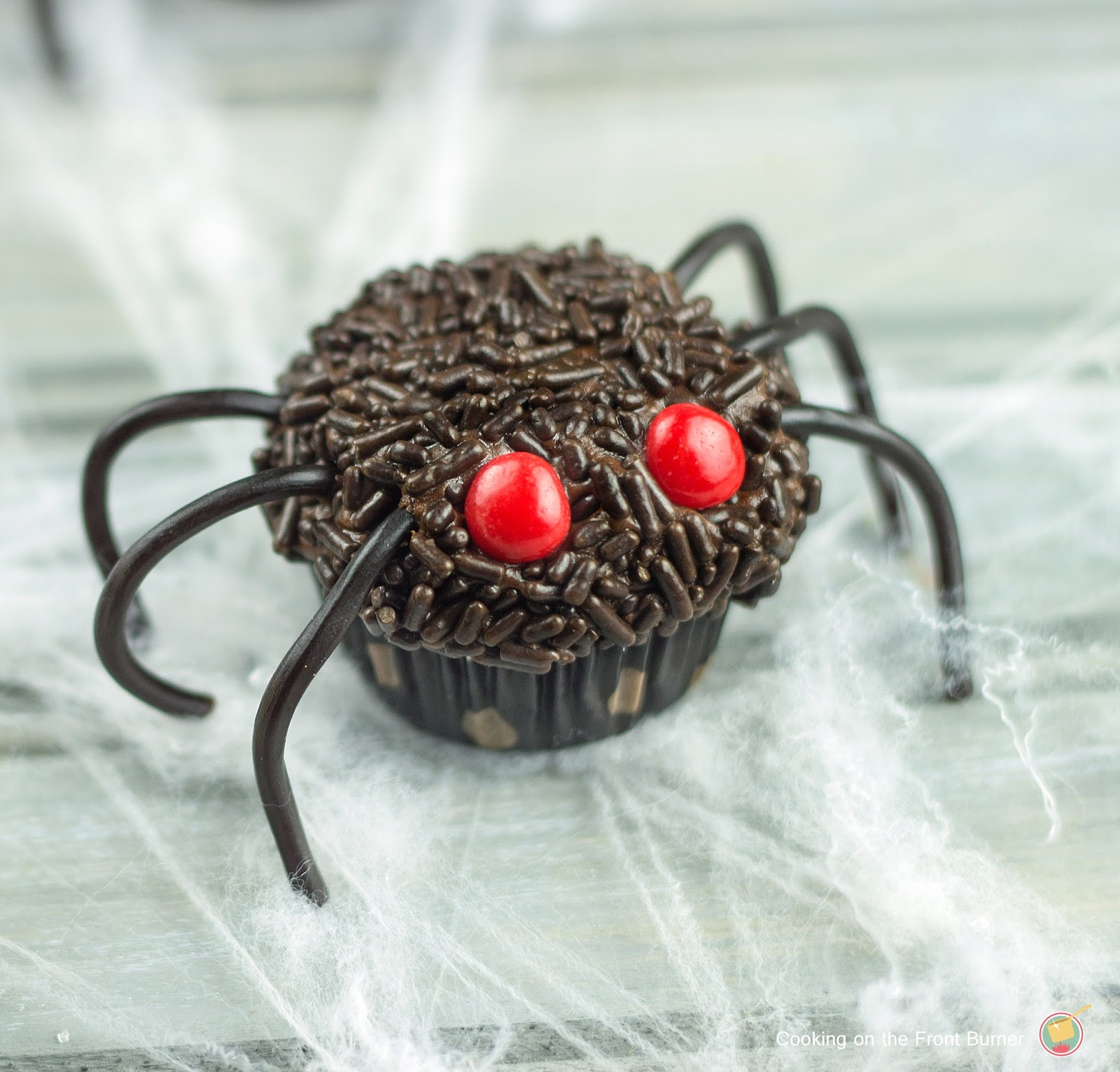 Spider Cupcakes | Cooking on the Front Burner