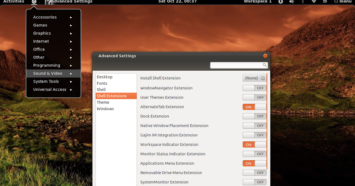 7 Best GNOME Shell Extensions, Install in Ubuntu 11 10