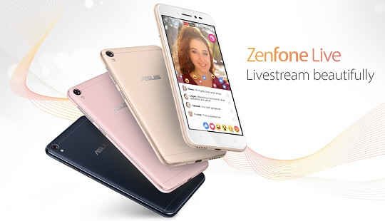 ASUS Silently Launches ZenFone Live Featuring Real-Time Beautification Technology
