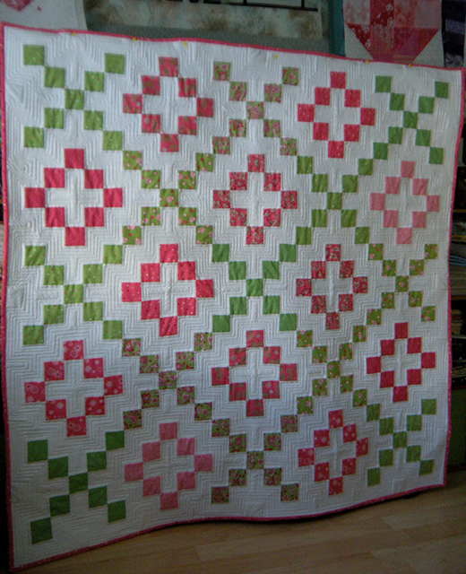 Hugs and Kisses Quilt Free Pattern designed by My Life in the Scrapatch