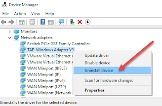 Delete Network Adapter