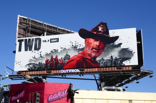 Rick Grimes Walking Dead season 9 billboard